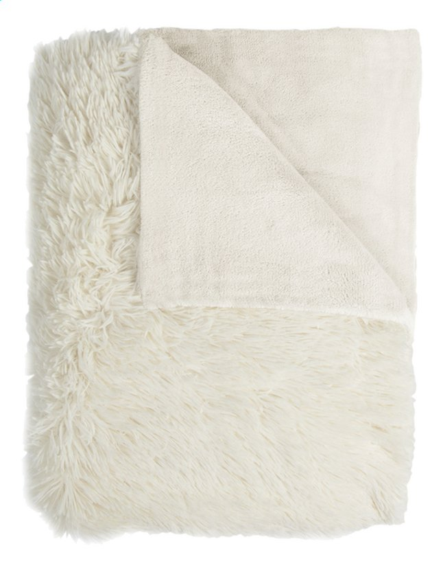 Image pour Mistral Home plaid Fuzzy L 170 x Lg 130 cm écru à partir de DreamLand