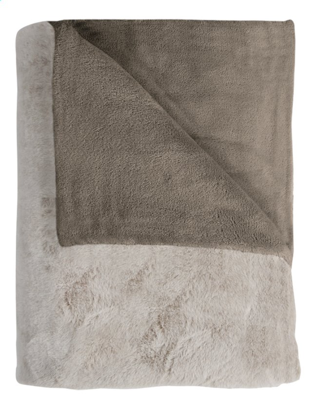 Afbeelding van Mistral Home plaid Fuzzy L 170 x B 130 cm taupe from DreamLand