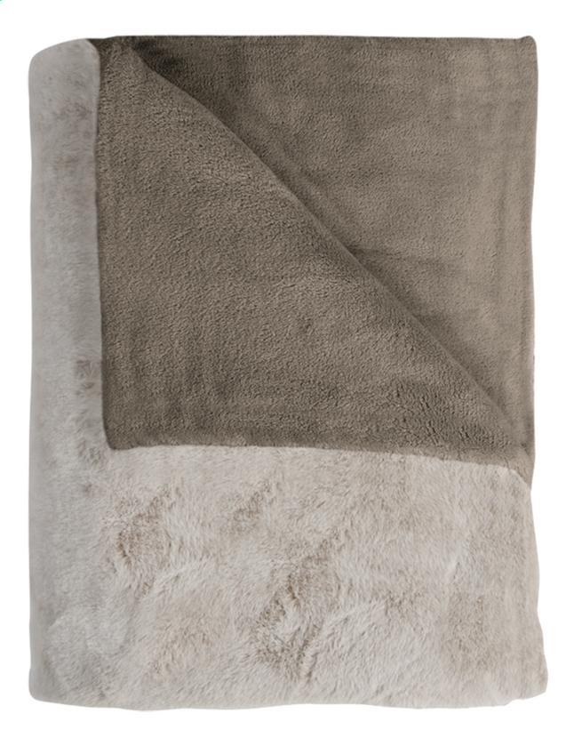 Image pour Mistral Home plaid Fuzzy L 170 x B 130 cm taupe à partir de DreamLand