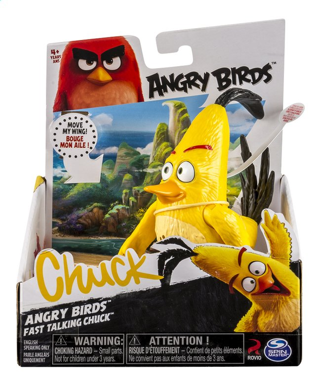 Afbeelding van Figuur Angry Birds Fast Talking Chuck from DreamLand