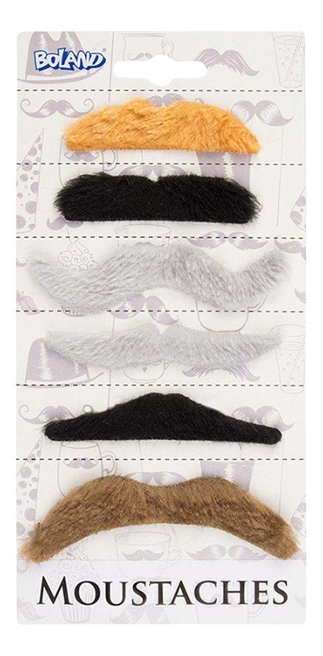 Ensemble de 6 moustaches