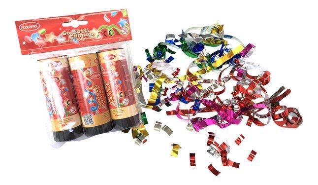 Goodmark canon à confettis & serpentins - 3 pièces
