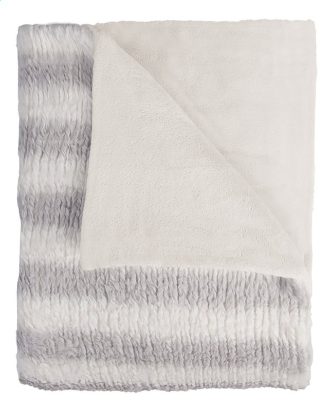 Afbeelding van Mistral Home plaid Fuzzy L 170 x B 130 cm grijs/wit from DreamLand
