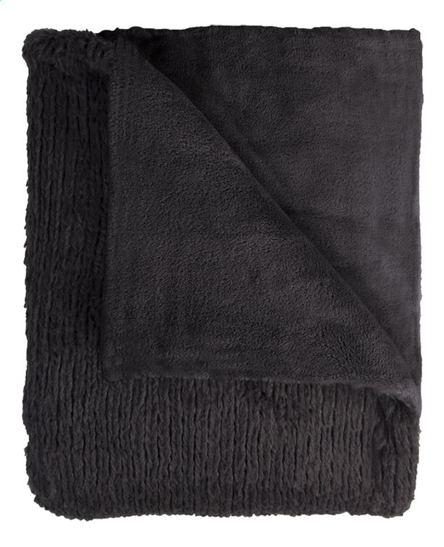 Mistral Home plaid Fuzzy L 170 x B 130 cm zwart