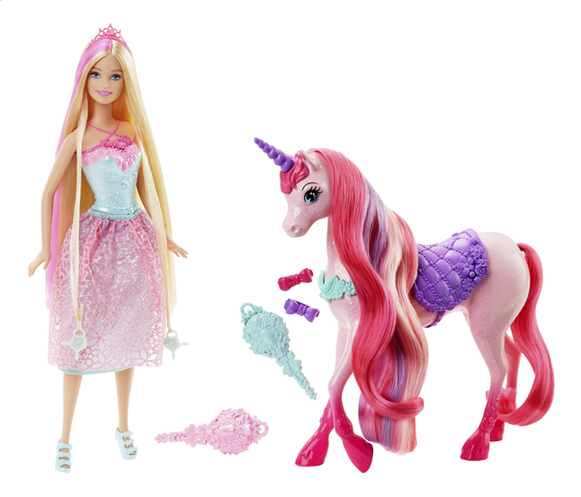 Image pour Barbie set de jeu Endless Hair Kingdom Princesse et licorne à partir de DreamLand