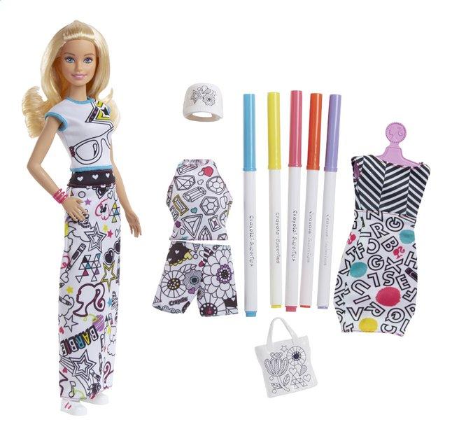 Barbie mannequinpop Crayola fashion