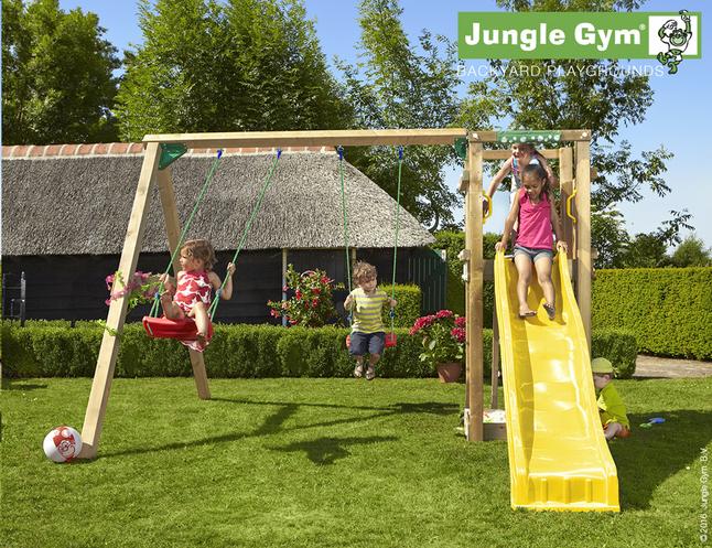 Afbeelding van Jungle Gym schommel met speeltoren Tower en gele glijbaan from DreamLand