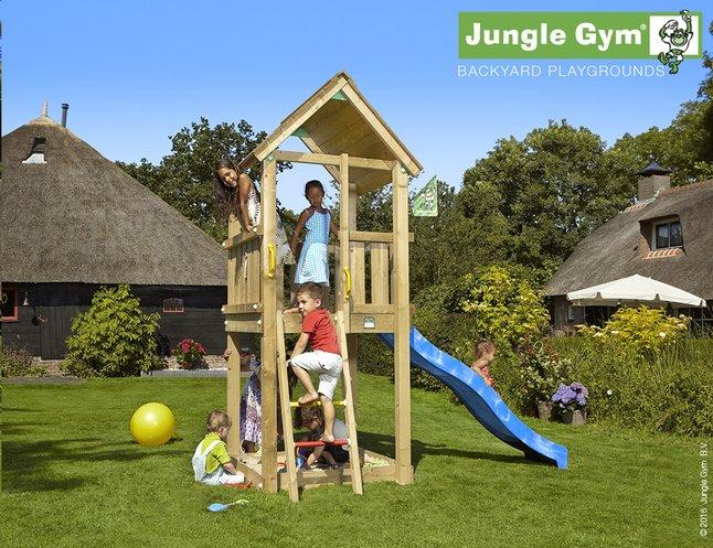 Image pour Jungle Gym tour de jeu en bois Club avec toboggan bleu à partir de DreamLand