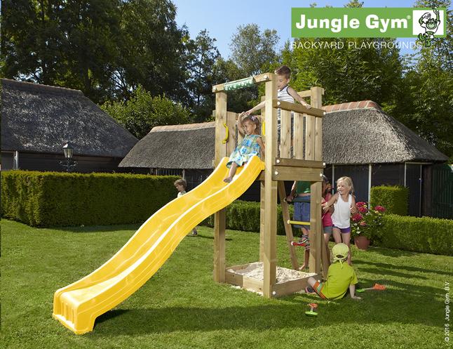 Image pour Jungle Gym tour de jeu en bois Tower avec toboggan jaune à partir de DreamLand