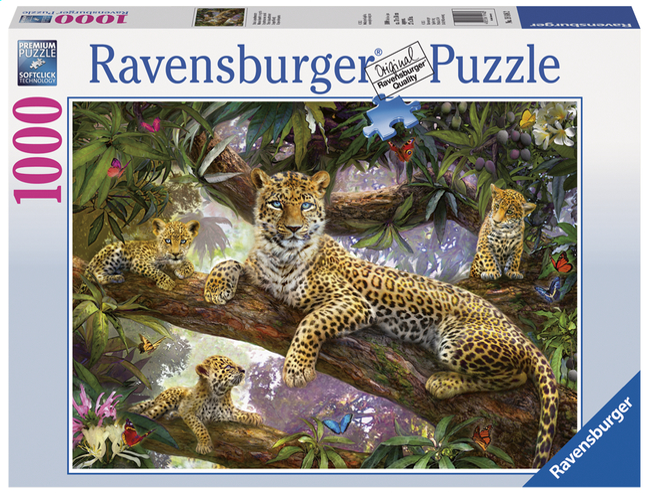 Afbeelding van Ravensburger puzzel Trotse luipaardmoeder from DreamLand