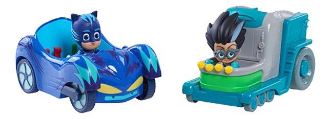PJ Masks 2 voertuigen + 2 figuren - Catboy & Romeo