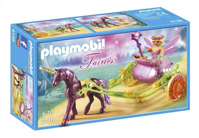 image pour playmobil fairies 9136 fe avec carrosse et licorne partir de dreamland
