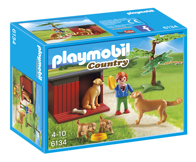 Afbeelding van PLAYMOBIL Country 6134 Golden Retrievers met puppy's from DreamLand