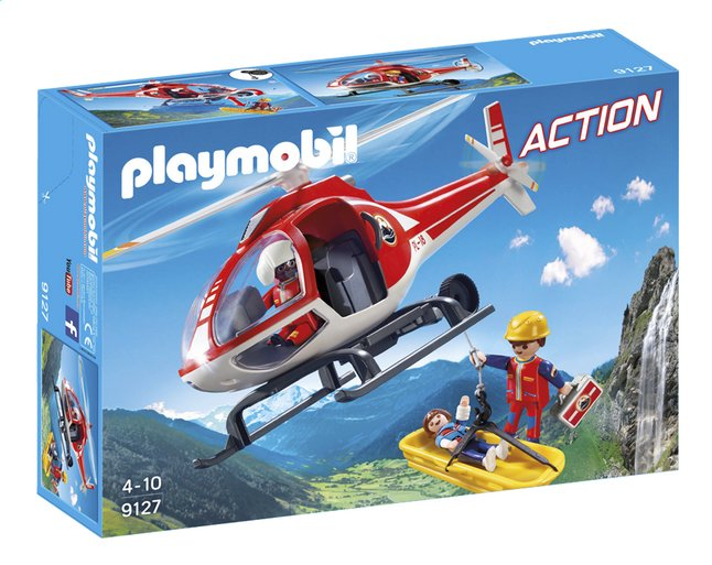 Afbeelding van Playmobil Action 9127 Reddingswerkers met helikopter from DreamLand