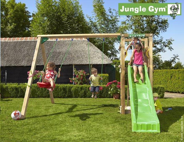 Image pour Jungle Gym portique avec tour de jeu Tower et toboggan vert à partir de DreamLand