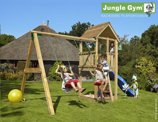 Image pour Jungle Gym portique avec tour de jeu Club et toboggan bleu à partir de DreamLand
