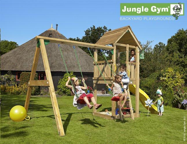 Afbeelding van Jungle Gym schommel met speeltoren Club en gele glijbaan from DreamLand