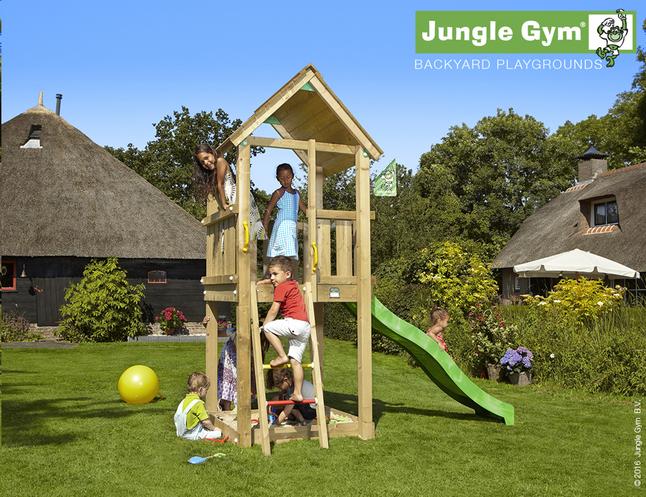 Image pour Jungle Gym tour de jeu en bois Club avec toboggan vert à partir de DreamLand