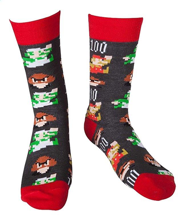 Paire De Chaussettes Nintendo Mario Pixel Art 4346