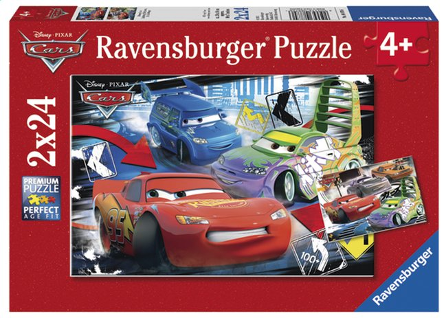 Afbeelding van Ravensburger 2-in-1-puzzel Cars - Dolle race from DreamLand