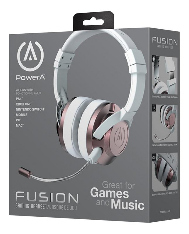Afbeelding van PowerA headset Fusion wired rosegold from DreamLand