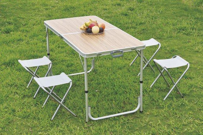 avec chaises Nordic camping Master Cordoba pliante de XL 4 Table c3R54LqAj