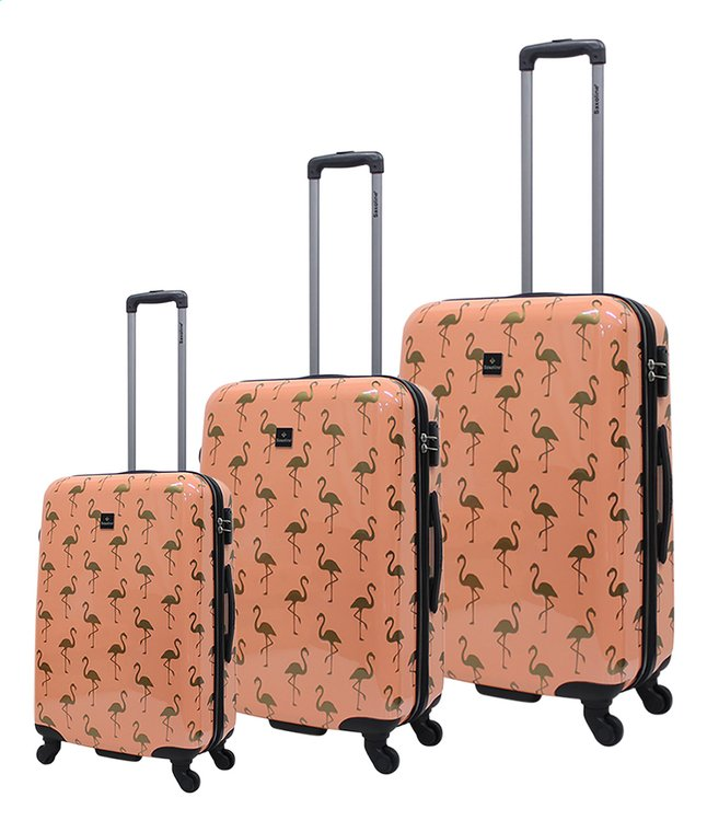 Afbeelding van Saxoline set van 3 harde trolleys Golden flamingo from DreamLand
