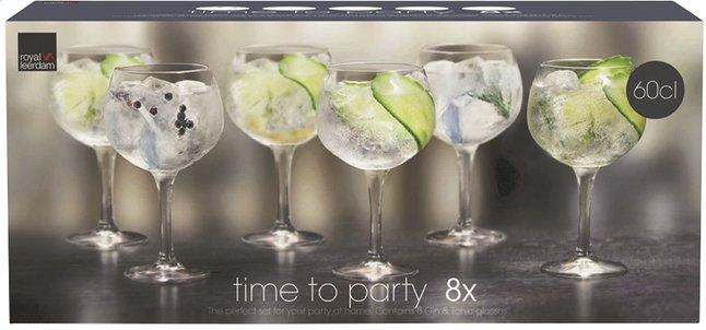 Image pour Royal Leerdam 8 verres à cocktail Time to Party Gin and Tonic 65 cl à partir de DreamLand