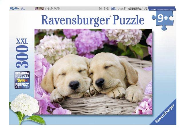 Ravensburger puzzle XXL Mignons chiots dans un panier