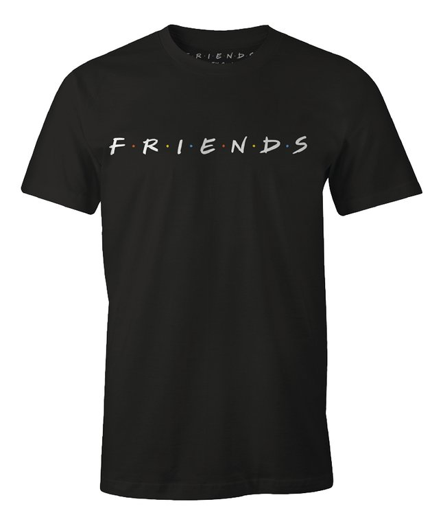 T-shirt Friends zwart