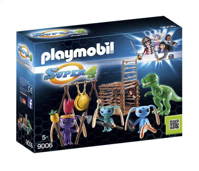Afbeelding van PLAYMOBIL Super 4 9006 Alien krijgers met T-Rex from DreamLand