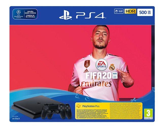 PS4 Slim 500 Go +  FIFA 20 + 2 manettes