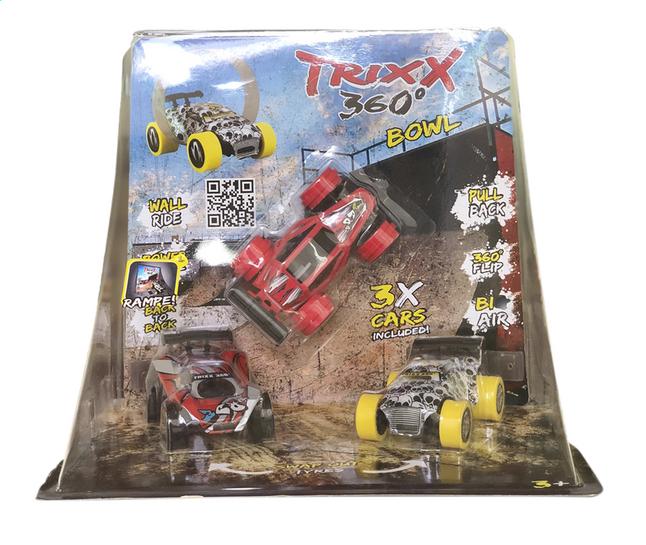 Afbeelding van Trixx 360° acrobatische auto's Stuntcars rood/wit - 3 stuks from DreamLand