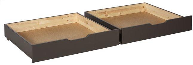Image pour 2 tiroirs de rangement Pino taupe à partir de DreamLand