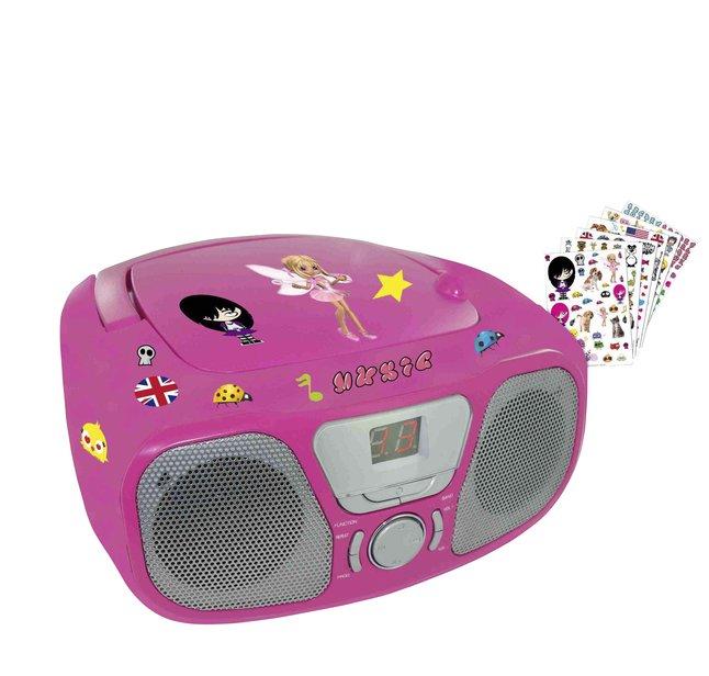 Afbeelding van Bigben draagbare radio/cd-speler CD46 roze from DreamLand