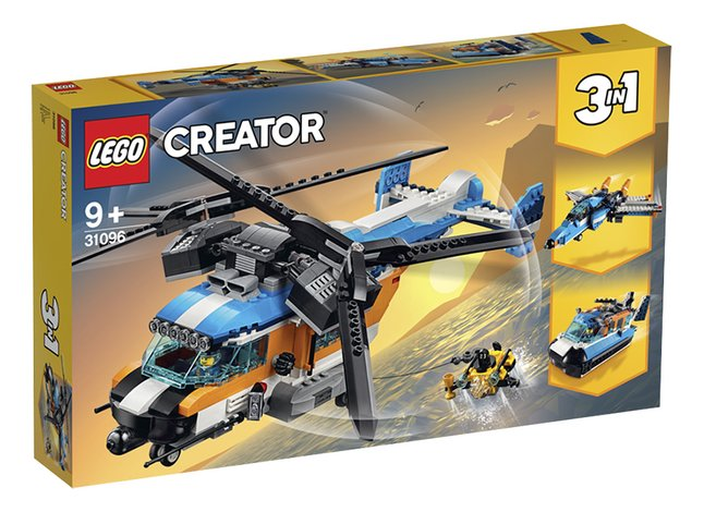 Afbeelding van LEGO Creator 3-in-1 31096 Dubbel-rotor helikopter from DreamLand