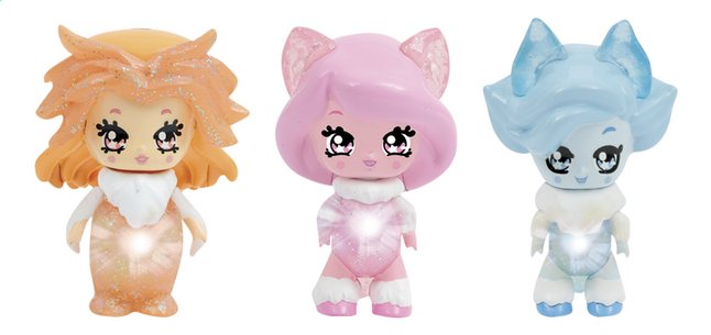 Figurines Glimmies Polaris Linda, Diana et Skylie