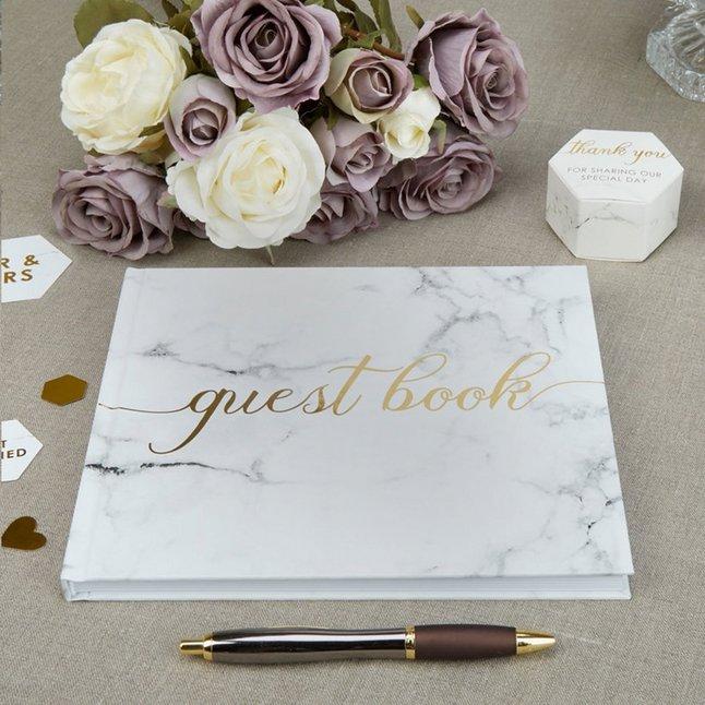 Afbeelding van Gastenboek huwelijk marmer from DreamLand