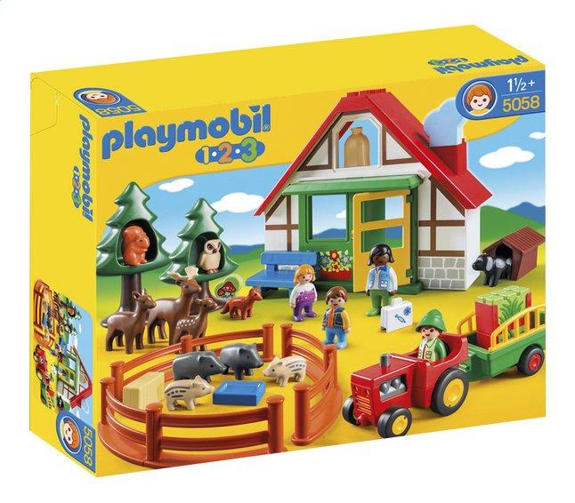 Afbeelding van Playmobil 1.2.3 5058 Boswachtershuis met dieren from DreamLand