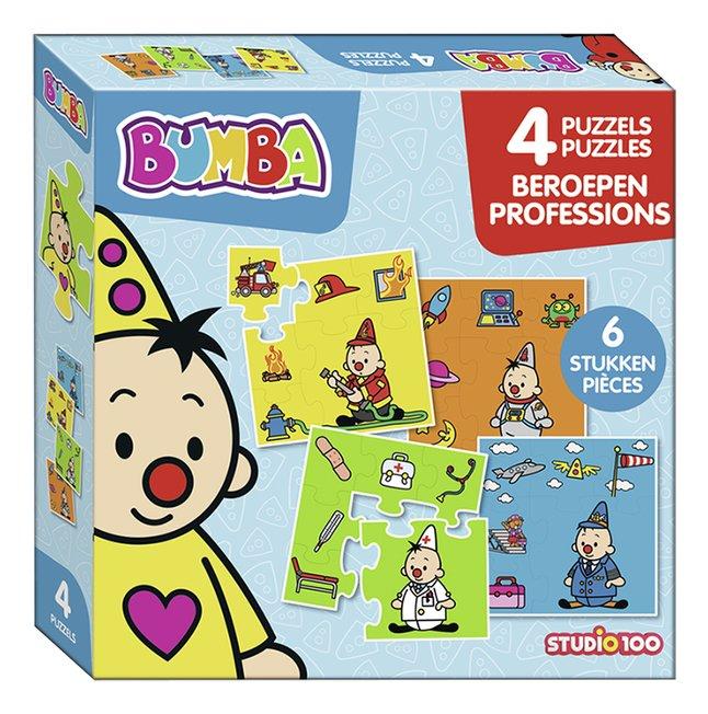 Studio 100 puzzel 4-in-1 Bumba Beroepen