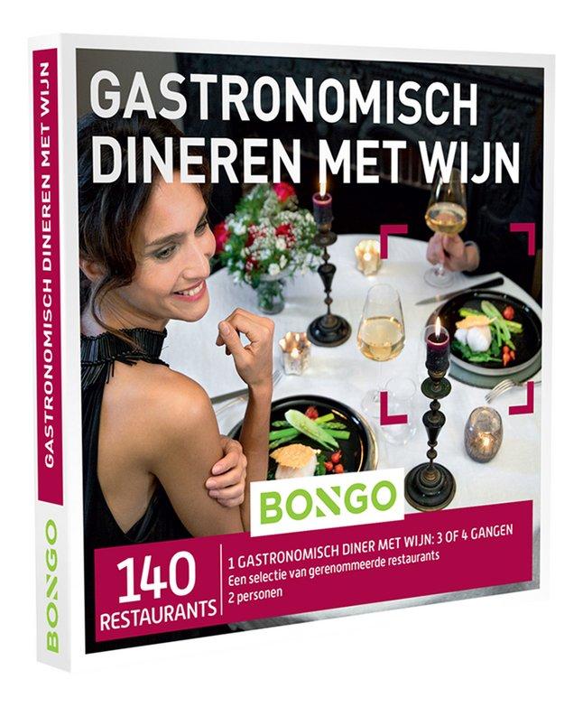 Bongo cadeaubon Gastronomisch dineren met wijn