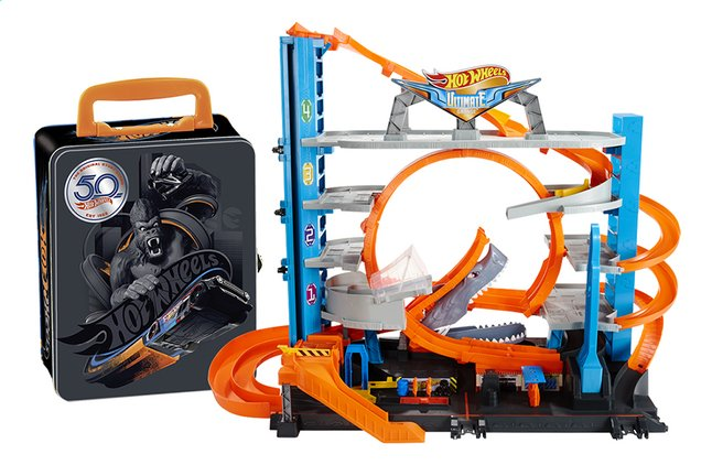 Afbeelding van Hot Wheels speelset City Ultimate Garage + koffertje 50ste verjaardag from DreamLand