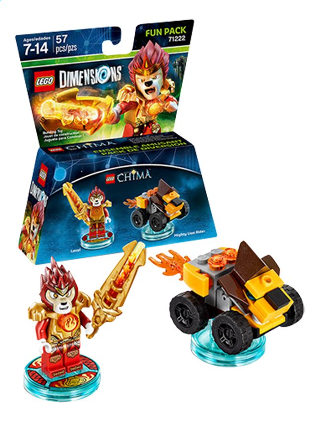 Afbeelding van LEGO Dimensions figuur Fun Pack Chima 71222 Laval from DreamLand