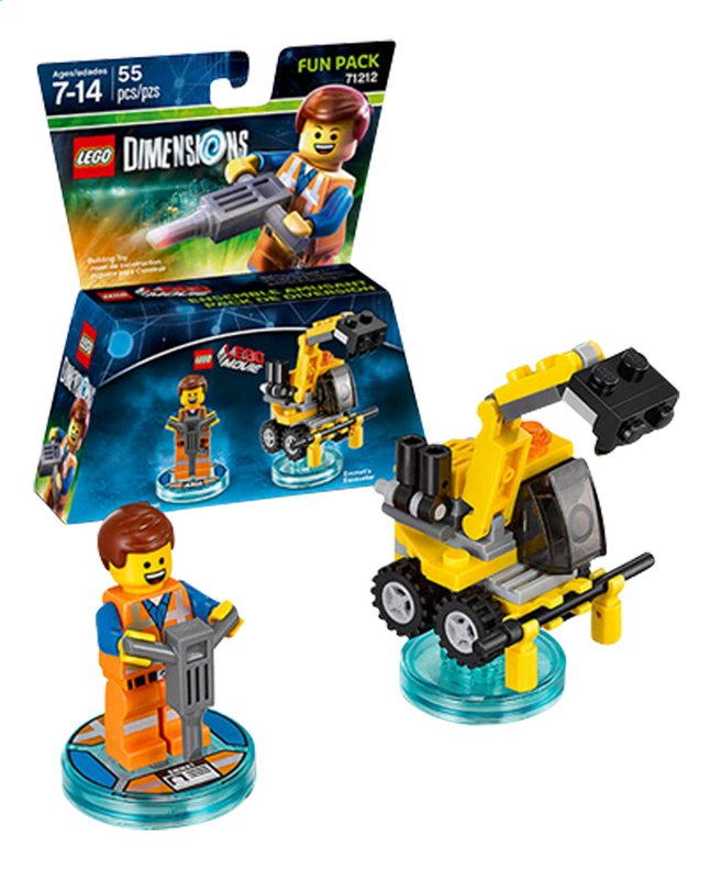 Afbeelding van LEGO Dimensions figuur Fun Pack Movie 71212 Emmet from DreamLand