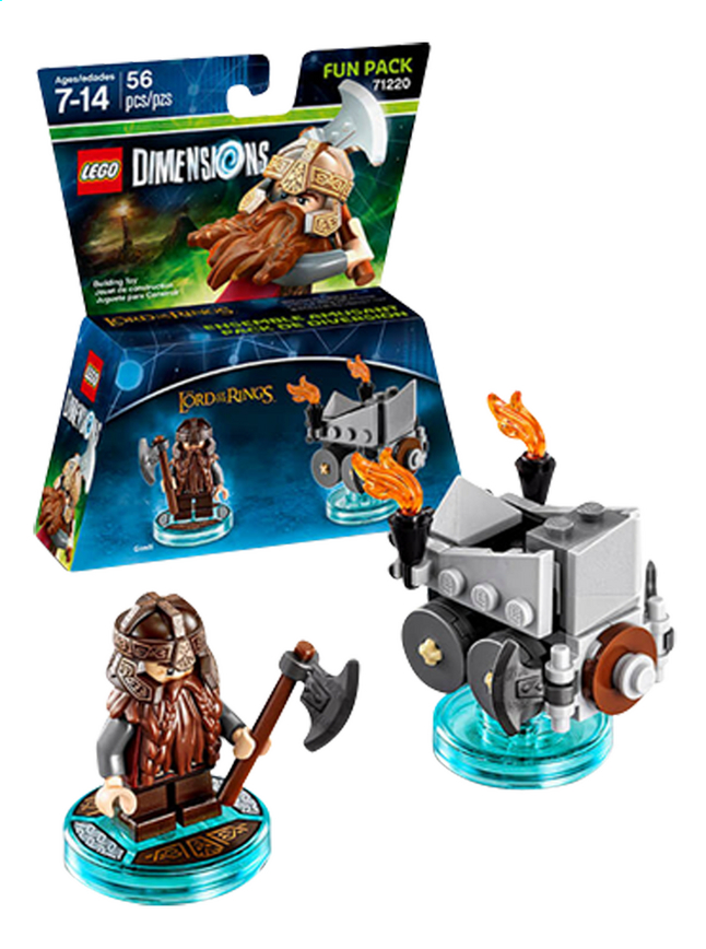 Afbeelding van LEGO Dimensions figuur Fun Pack The Lord of the Rings 71220 Gimli from DreamLand