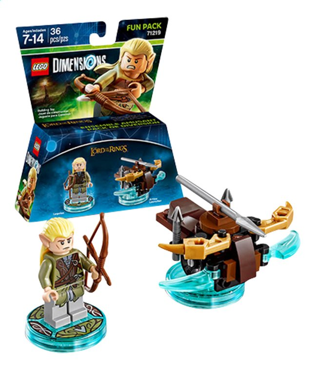 Afbeelding van LEGO Dimensions figuur Fun Pack The Lord of the Rings 71219 Legolas from DreamLand