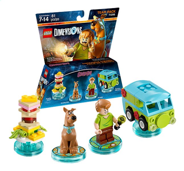 Afbeelding van LEGO Dimensions figuur Team Pack 71206 Scooby-doo from DreamLand