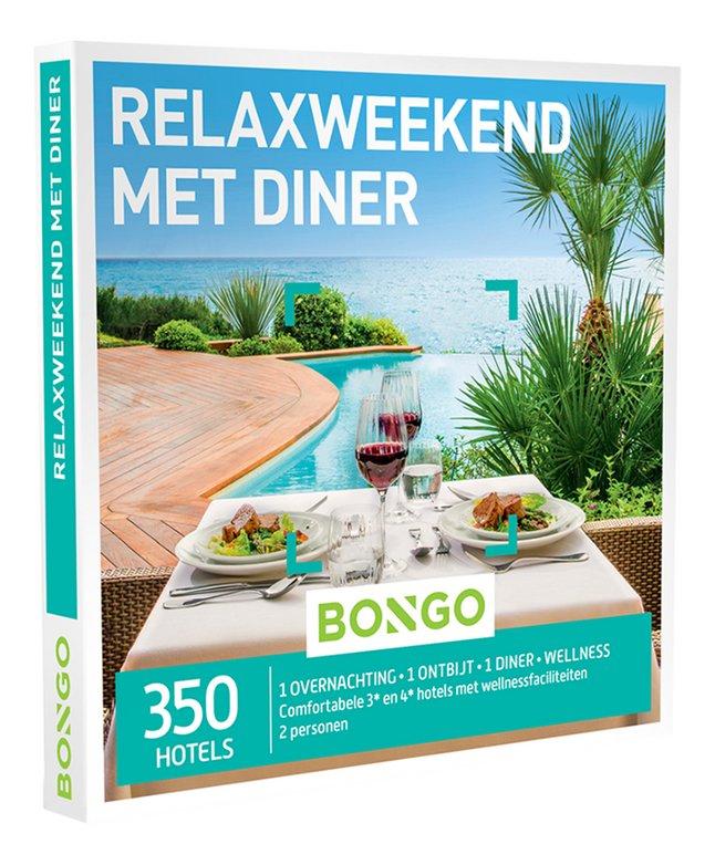 Bongo cadeaubon Relaxweekend met Diner