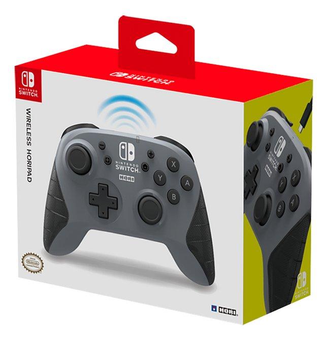 Afbeelding van Hori Draadloze controller Wireless Horipad voor Nintendo Switch grey from DreamLand