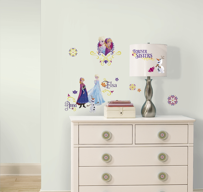 Afbeelding van 27 muurstickers Disney Frozen Spring Time from DreamLand